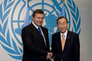 Генсек ООН пригласил Януковича в Нью-Йорк