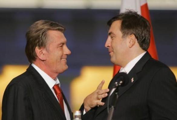 Віктор Ющенко та Михайло Саакашвілі