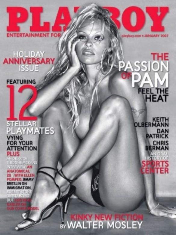 Памела Андерсон на січневій обкладинці Playboy (Фото: blog.meta.ua)