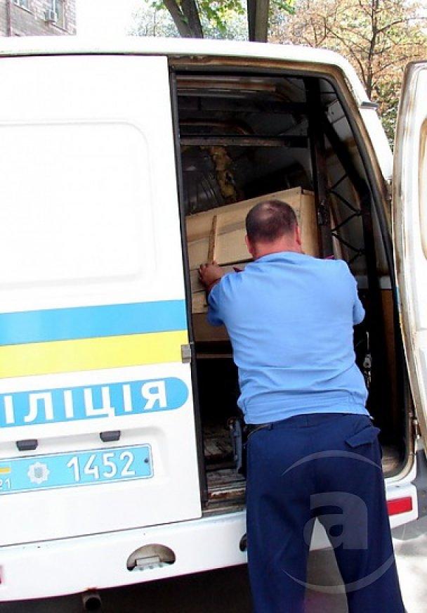 Харківська міліція конфіскувала в соратників Тягнибока труну