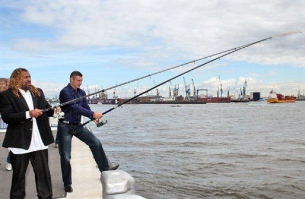 Віталій Кличко з Бріггсом порибалили у Гамбурзі