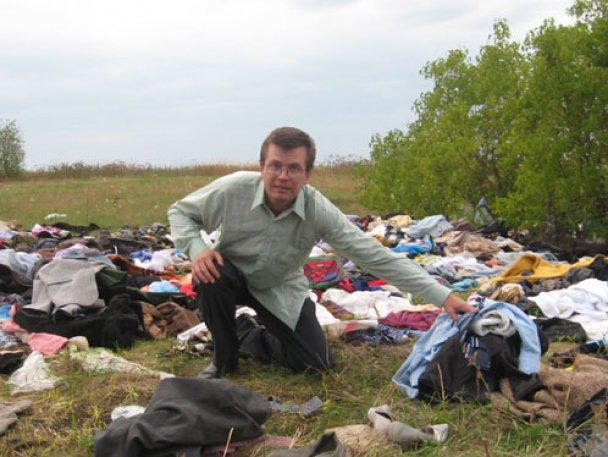 Російські чиновники викинули гуманітарну допомогу на звалище