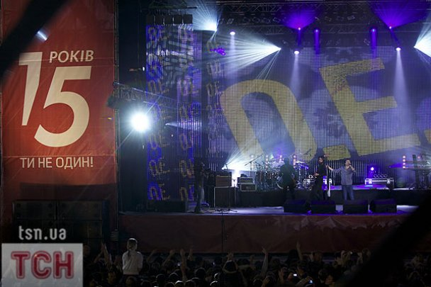 """Святкування 15-річчя телеканалу """"1+1"""" у Києві"""