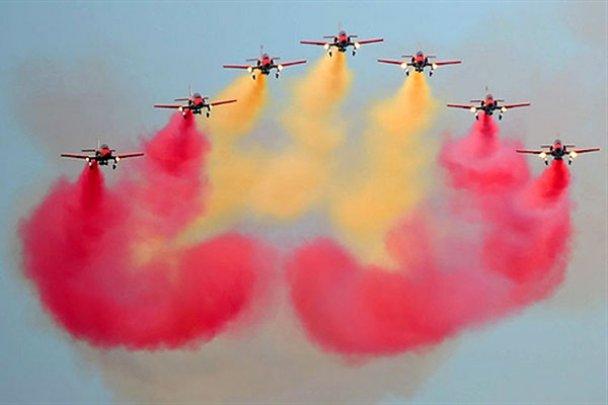 Фантастическое акробатическое авиашоу в Италии