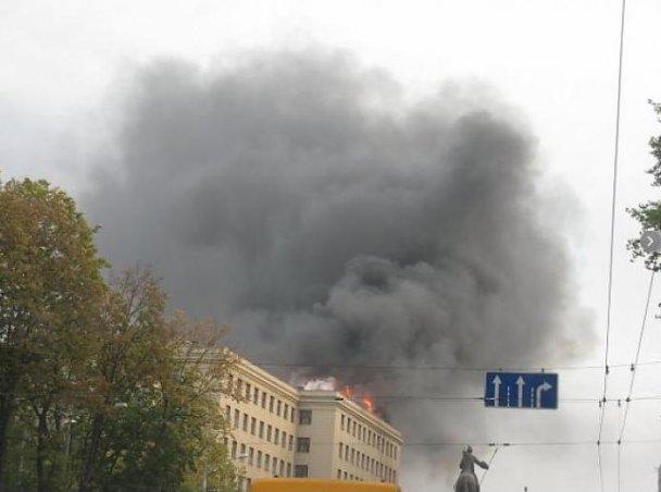 У Харкові горить університет імені Каразіна