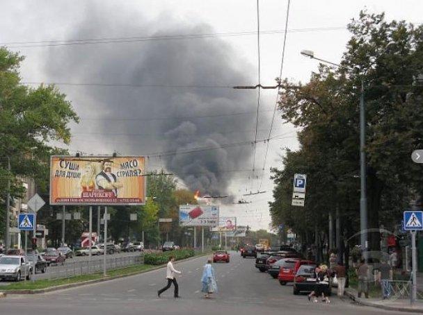 В Харькове горит университет имени Каразина