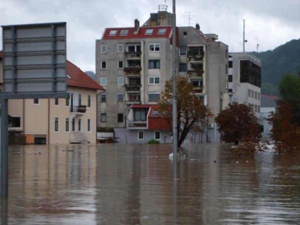 Через повінь Любляна перетворилась на Венецію