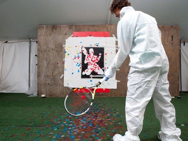 Федерер і Надаль намалювали картини тенісними ракетками